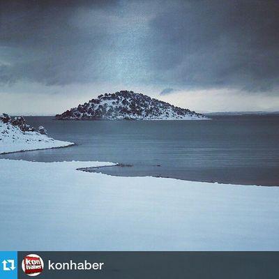 Foto :@konhaber ・・・ Comseekonya Konya Beysehir Gölü, Kartpostallık kar görüntüleri Konhaber