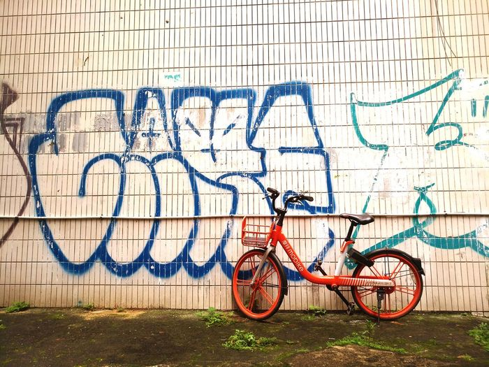 Bicycle Rack Bicycle Stationary Graffiti Wall - Building Feature Architecture