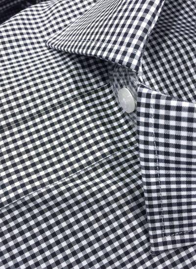 Men's clothes men's shirt formal flat black white buttons pattern