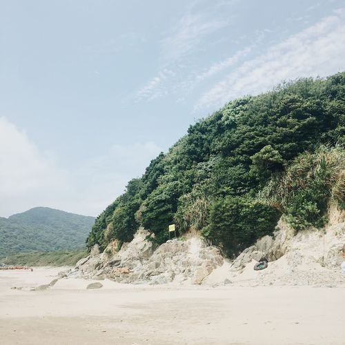 Sand Beach Nature Mountain Scenics Day Beauty In Nature Sky Tranquil Scene Tranquility No People Outdoors Landscape Tree