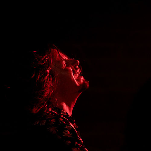 Lachy Doley in Red Horn District Black Background Exaltation Expressive HAMMOND ORGAN Singer  Black Background Close Up Concert Concert Photography Headshot Indoors  Musician One Person Organist Portrait Red Red Color