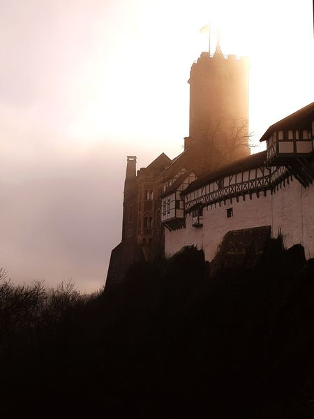 Shades Of Winter Castle History Architecture Martin Luther Cloudy Day Cold Temperature