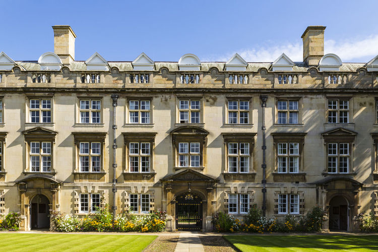 Fellows Building, Christ's College, University of Cambridge, Cambridge, England, United Kingdom Architecture Building Exterior Built Structure Day Façade House Luxury No People Outdoors Residential Building Sky Window