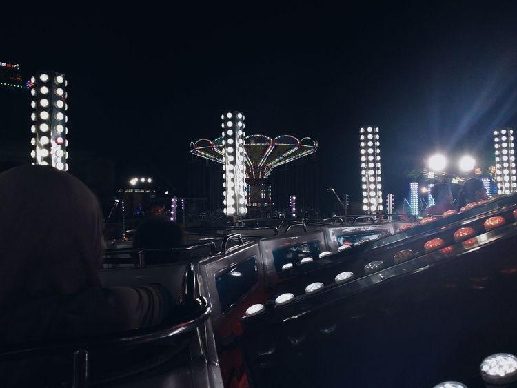 Night Illuminated Funfair Games Arcade EyeEmNewHere The Week On EyeEm