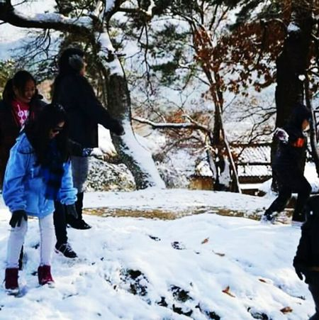 Leisure Activity Cold Temperature Snow Winter Lifestyles Tree Season  Innocence Beauty In Nature Person Outdoors Nature Day