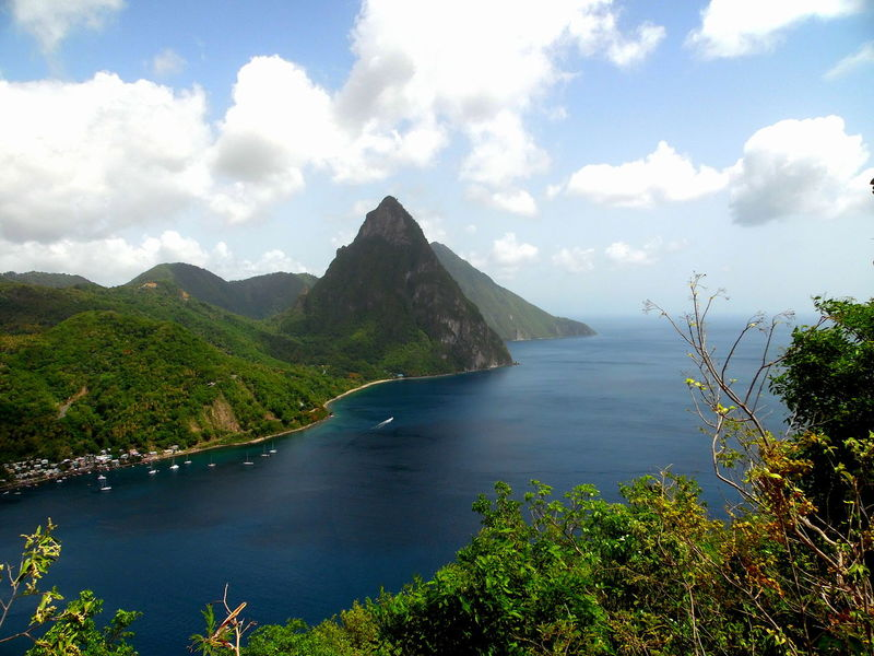 This picture is of the the Gros Piton in Soufriere, St.lucia. Beauty In Nature Caribbean Nature's Diversities Coastline Distant Mountain Mountain Range Nature Outdoors Piton Mountain Rock Rock Formation Rock Formation Saint Lucia Scenics Sea Seeing The Sights Tranquil Scene Tranquility Tropical Climate Vacation Volcano Volcanoes Voyage Water