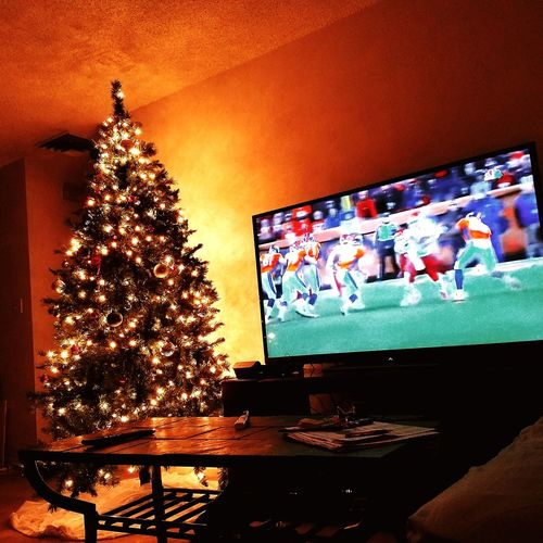 Christmas Christmas Tree Christmas Lights Illuminated Living Room Night Football Season EyeEmNewHere