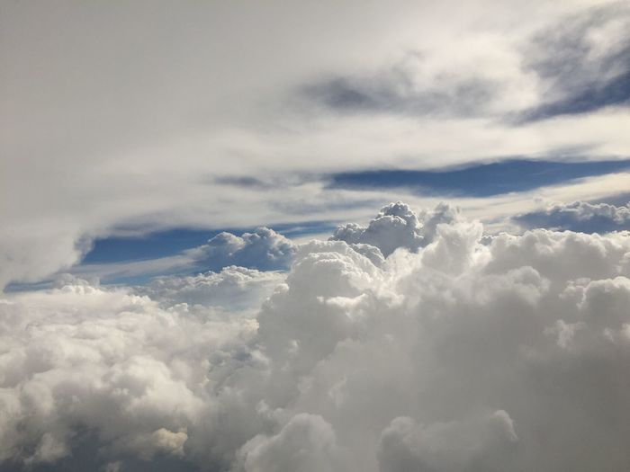 Aerial View Cloud Cloud - Sky Idyllic Majestic No People Sky Sky Only Softness Tranquil Scene Tranquility White