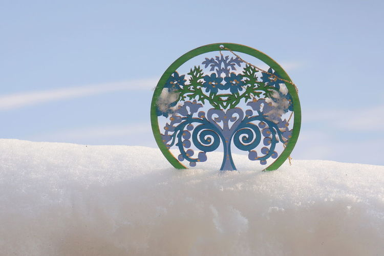 Sky Circle Geometric Shape Nature No People Day Close-up Shape Water Outdoors Blue Design Pattern Sunlight Digital Composite Plant Art And Craft Cloud - Sky Snow Beauty In Nature