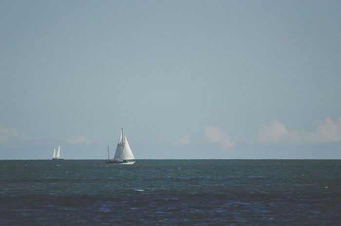 Sea Sea Horizon Over Water Water Nautical Vessel Transportation Sailboat Waterfront Mode Of Transport Journey Sailing Tranquil Scene Scenics Tranquility Seascape Sky Rippled Nature Beauty In Nature Non-urban Scene Ocean Dublin Bay Dublin, Ireland Dublin Beautiful