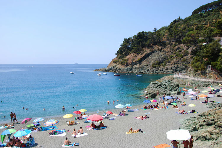 A day at the beach - Bonassola, La Spezia, Liguria, Italy. Bonassola European  Italia La Spezia Summertime Travel Beach Beauty In Nature Europe Holiday Horizon Over Water Italian Italy Large Group Of People Liguria Nature Outdoors Real People Sand Sea Summer Tourism Trip Vacations Water