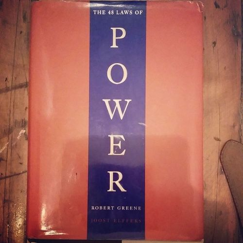 Round2  for this book 48LawsOfPower in learn something new every time I read it.... RobertGreene FatOnMyHead KnowledgeIsPower KnowledgeIsKey BathroomChronicles DailyRead