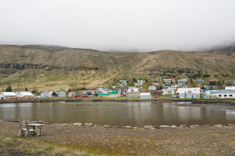 Iceland Iceland Memories Building Exterior Day Iceland Trip Iceland_collection Lake Landscape Mountain Mountain Range Nature No People Outdoors Scenics Seyðisfjörður Sky Water
