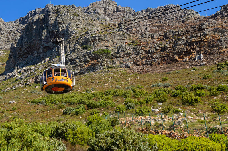 Table Mountain Architecture Cable Car Day Formation Land Mode Of Transportation Mountain Nature No People Outdoors Rock Rock - Object Rocky Mountains Transportation Travel