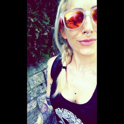 Blondiegirl Cheapmonday Sunglasses Gowork Septumpiercing  Septumvidakush Tattoos INKEDGIRL