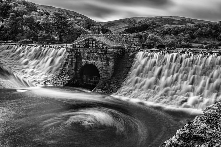 Dol-y-Mynach, Elan Valley, mid-Wales Arch Architecture Blurred Motion Bridge - Man Made Structure Built Structure Dam Flowing Water Hydroelectric Power Long Exposure Motion Mountain No People Power In Nature River Scenics Water Waterfall