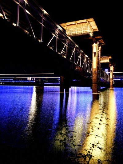 Lights over Yangzi River Architecture Bridge Bridge - Man Made Structure IPhone Photography IPhoneography Long Exposure Mobile Photography Mobileography Night Night Lights Reflections River Water The Innovator Fine Art Photography On The Way Colour Of Life