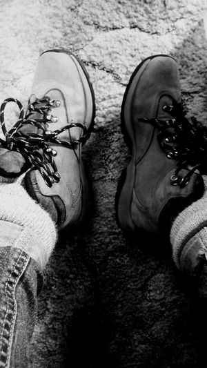 These boots were made for walking. Winters coming! Personal Perspective High Angle View Human Foot Brown Outdoors Shoe Country Road Treethugger Washington SummersEnd Hiking Pictures