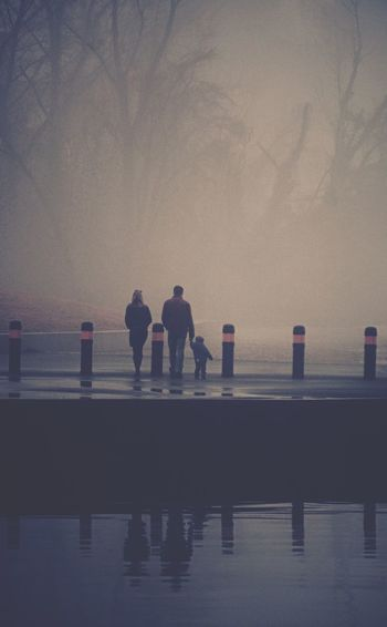 Don't let anything come between you and your loved ones Family The Human Condition Peoplephotography People Photography Fog Foggy Under The Bridge Enjoying Life Everyday Joy