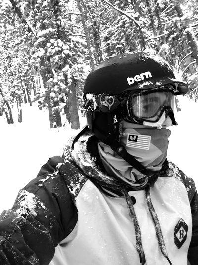 Life Black & White Trees Winter Powder