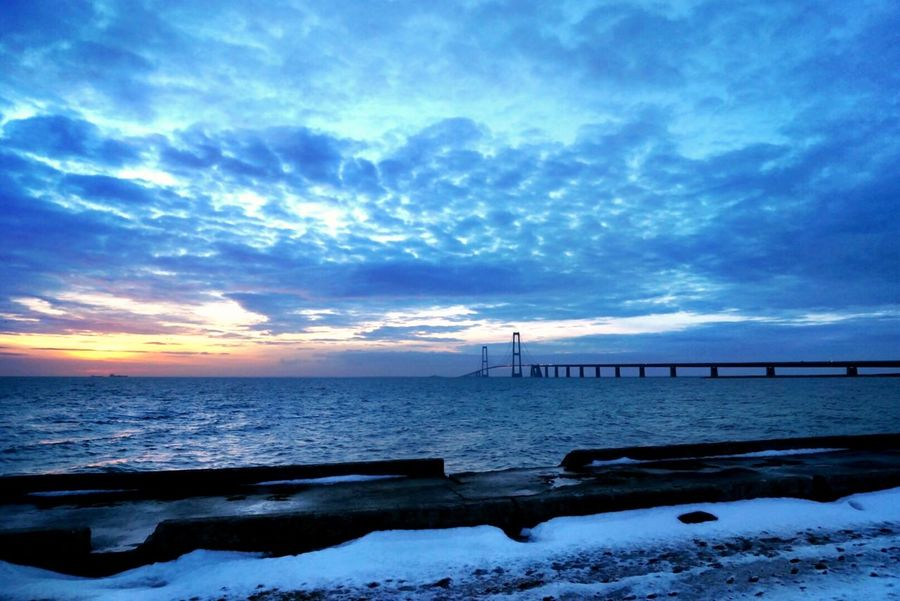 Pastel Power Landscape Water_collection Water Bridge Sunset Sunset_collection Ship EyeEm Best Shots EyeEm Gallery Nature_collection Landscape_Collection Landscape_photography Waterfront Bridges Winter Cold Cityscape Denmark Storebæltsbroen Architecturelovers Clouds And Sky Cityscapes Landscapes With WhiteWall The KIOMI Collection