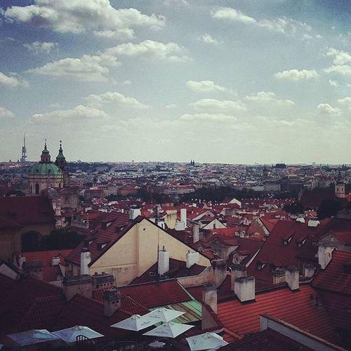 Prague Praha Trip Clouds Sky Panorama City Roof Iloveprague