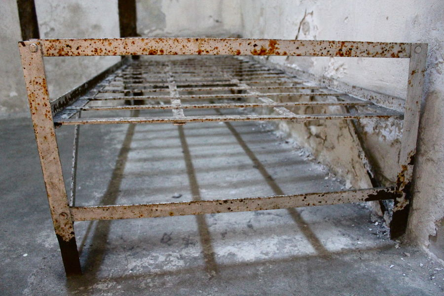 bed in jail Bed Jail Jailhouses Pattern, Texture, Shape And Form Philadelphia Rust Square Abandoned Antic Architecture Bed Frame Built Structure Cell Damaged Frame Indoors  Metal No People Old Old Ruin Pattern Prison Rusty Weathered Wood - Material Creative Space The Still Life Photographer - 2018 EyeEm Awards Summer Road Tripping