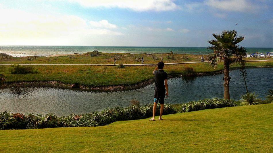 Mazagan ... The perfect place 🎩👌 Morocco Mazagan Sumer Paradise Beatiful Great Huge Casino Grass Sand Sea Beach Memories 2016