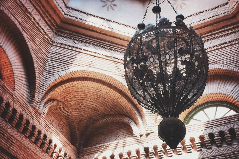 Light reflection Marrakech Indoors  Hanging Architecture Ceiling Built Structure Lighting Equipment Arch Low Angle View Art And Craft Decoration Illuminated No People Chandelier Building Travel