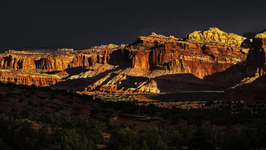 Capitol Reef National Park is a hidden wonder of beauty few people travel to visit. No People Capitol Reef National Park National Parks Adventure Travel Travel Photography Nature Nature Photography Outdoors Outdoor Photography Landscape Landscape Photography Rocks Clouds Colors Desert Sky Scenic View Scenery Trees Rock Formation