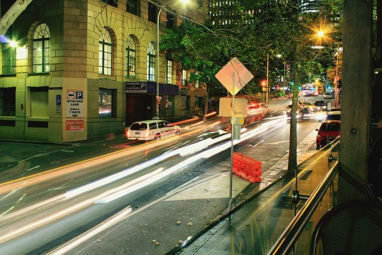 Speed Light Slow Shutterspeed Suspended Sydney Vivid Lightshow Max Brenner Cafe