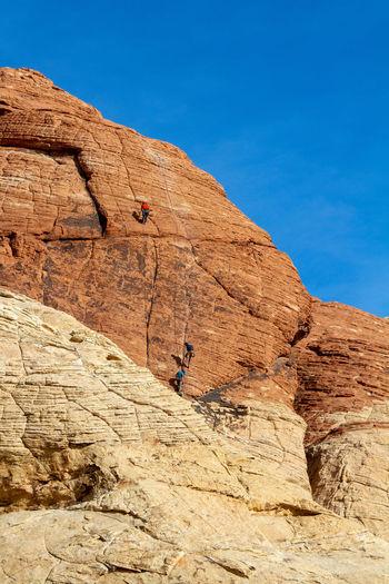 Rock climbers. red rock canyon, nevada