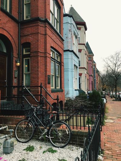 Street in Washington DC Bysicle Washington, D. C. EyeEm Selects Building Exterior Architecture Built Structure Bicycle Land Vehicle Transportation