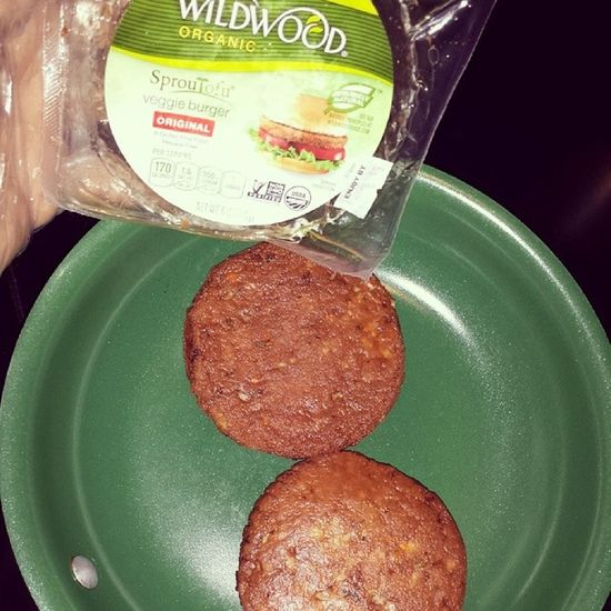 Nongmoproject Wildwoodorganic sprouted tofu veggie burgers for Lunch