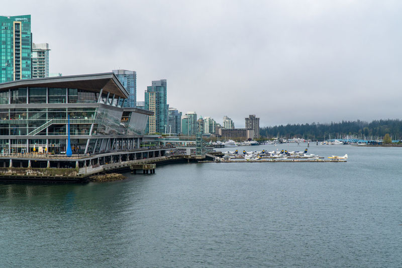Travel Destinations Travel Travelling Traveling British Columbia Outdoors Architecture Built Structure Water Building Exterior Sky City Waterfront Transportation Building No People Nature Nautical Vessel Bridge Cloud - Sky Day Connection Sea Bridge - Man Made Structure Office Building Exterior Skyscraper Passenger Craft Cruise Ship