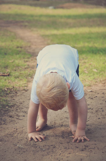 Casual Clothing Cute Day Grass Outdoors Playing In Dirt Toddler  Toddler Life
