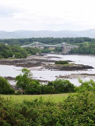 Menai Straits Wales Menai Bridge Menai Strait Menai Strait North Wales MenaiBridge Menai Suspension Bridge North Wales Anglesey Landscape Landscape_Collection Landscape_photography Landscapes Bridge Bridge - Man Made Structure Bridges