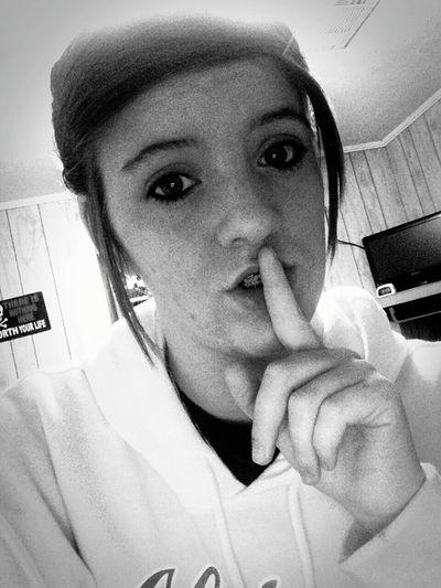 Some secrets are best kept to yourself. Hi! Hi World ! Secrets ❤ Cutie♥ Shh! Blackandwhite First Eyeem Photo That's Me Brunettesdoitbetter Me &' My Messy Bun , ❤❤❤