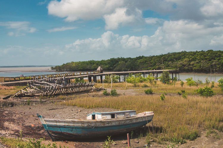 Exploring the ghost town of Alcantara. Abandoned Abandoned Places Adventure Boat Day Discover  Dock Explore Forest Harbor Island Jetty Outdoors Pier Scenics Sky Streetphotography Tranquil Scene Tranquility Travel Travel Destinations Travel Photography Traveling Urbex Wood The Street Photographer - 2017 EyeEm Awards The Photojournalist - 2017 EyeEm Awards Going Remote This Is Latin America Visual Creativity The Great Outdoors - 2018 EyeEm Awards A New Perspective On Life