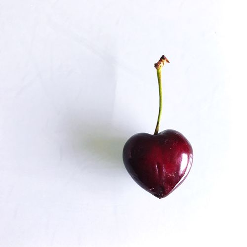 Deep red cherry shaped as a heart isolated on white background Isolated Isolated White Background Deep Red Red Indoors  Day Nature Red No People Close-up Healthy Eating Food White Background Studio Shot Food And Drink Freshness Fruit Cherry Heart Heart Shape One Item Sweet Sweet Life Love Sweet Food In Love