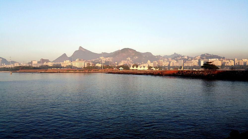 Christ Redemptor so far Enjoying Life Hello World Voyage SauloValley Tourism Brasil Riodejaneiro Sea