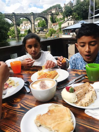 Knaresborough Knaresborough Viaduct Amelia Miah Adam Miah Food And Drink Child Food Childhood Table Family Boys