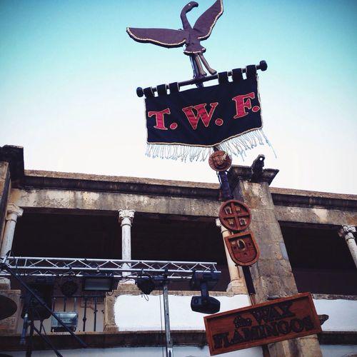 Os The Wax Falmingo já tem o estandarte no palco! FestivalF