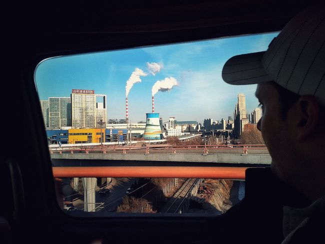 Dalian China ASIA Factory Fromthecar People And Places People And Places. The Drive. The Drive My Year My View Traveling Home For The Holidays