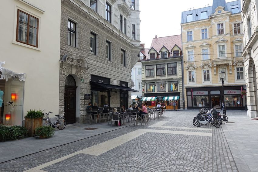 Ljubljana Architecture Building Exterior Built Structure City Street Transportation Building City Life City Street Person Day Outdoors Façade Long Slovenia