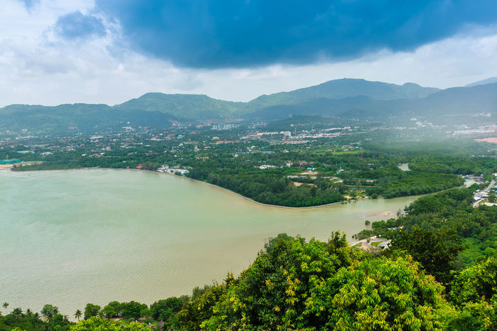 Beautiful view from Khao-Khad Views Tower, tourists can enjoy the 360-degree view such as Chalong bay, Panwa cape, Sire island, Bon island, tiny and large islands around Phuket including Phuket city. This tower was built according to Vichit district office project. 360° Chalong Bay Panorama Panwa Cape Phuket Phuket Island Phuket Thailand Phuket, Thailand Phuket,Thailand Siray Sire Island Agriculture Bay Beauty In Nature Cloud - Sky Day Green Color Growth Khao Khad Landscape Mountain Mountain Range Nature No People Outdoors Phuket Town Plant Scenics Sky Tiny Island Tower Tranquil Scene Tranquility Tree Viewpoint Water