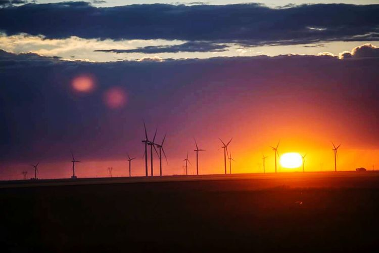 Hello World Hanging Out Taking Photos road trip kansas sunset windmill
