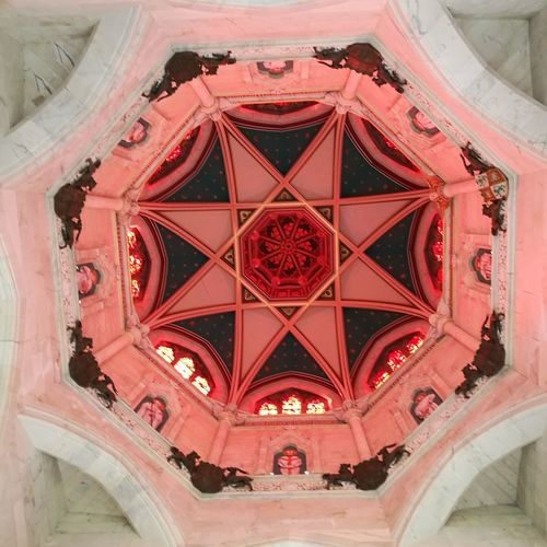 Looking up, in the private chapel at Mount Stuart. Travel Patterns Chapel Architecture Church