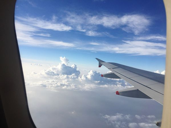 Air Vehicle Part Of Transportation Aircraft Wing Airplane Flying Travel Sky Window Cloud Journey Cloudscape
