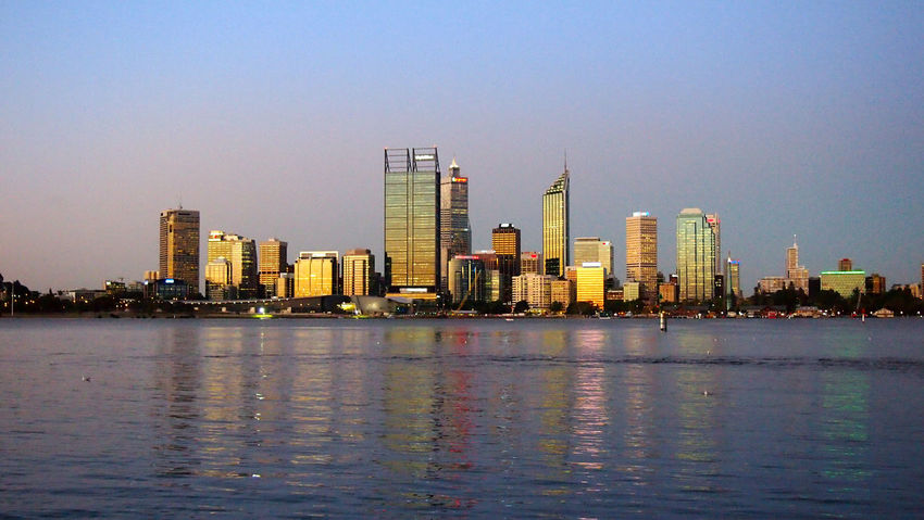 Perth golden skyline at sunset, Perth, Austraia Australia City Lights At Night Colourful Night Lights Night Photography Perth Perth Australia Perth Skyline Sightseeing Skyline Skyline At Night Travel Travel Photography Traveling Travelling Western Australia Architecture Australia & Travel Blue Building Exterior Built Structure City City Lights Cityscape Clear Sky Day Modern Night No People Outdoors Sea Sky Skyscraper Tourist Destination Travel Destinations Travelphotography Urban Skyline Water Waterfront